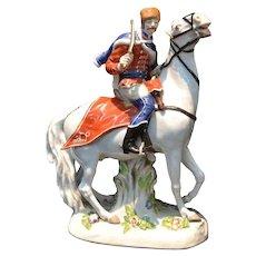 Meissen Russian Cossack on Horseback Figurine