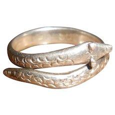 Asian 800 Silver Snake Naga Amulet Ring