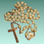 French Art Deco Rosary with Faux Ivory Beads