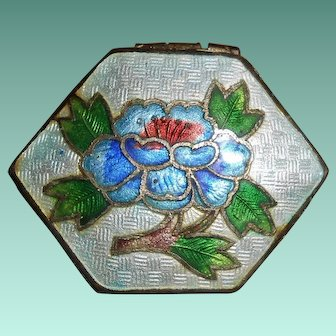 Old Chinese Cloisonne and Guilloche Enamel Miniature Box