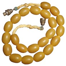 Natural Copal Egg Yolk Amber Baby's Bead Necklace