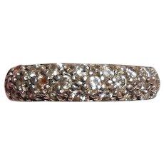 Diamond Pavé Silver Half-Eternity Ring
