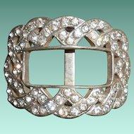 Art Deco FRANK BROS. Diamond Paste Shoe Buckle