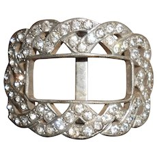 Art Deco FRANK BROS. Diamond Paste Shoe Buckle