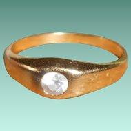 French Art Deco Gypsy Set Diamond Paste Ring