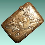 French Joan of Arc Early 20th Century Brass Vesta Case