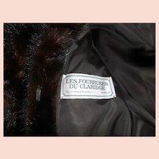 1980s Les Fourrures Du Claridge Mink Swing Coat/Jacket