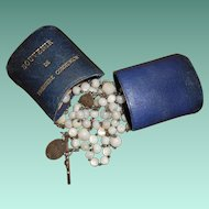 First Holy Communion Silver & Mother of Pearl Rosary