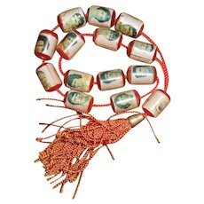 1960s/1970s Greek Olympiacos Football Club Prayer Beads with Photographic Images of Players