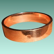 French Art Deco Savard FIX Rose Gold Filled Wedding Ring