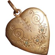 French 18 Carat Gold Filled Savard FIX Heart Photo. Locket Pendant