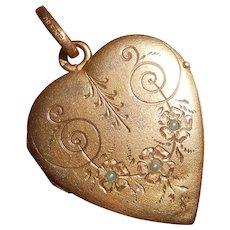 French Art Nouveau Savard FIX Heart Photo. Locket Pendant