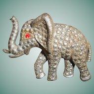 Art Deco Cut Steel Elephant Brooch