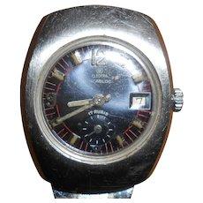 1960-1970 Electra Incabloc Tonneau Watch with ZRC Strap