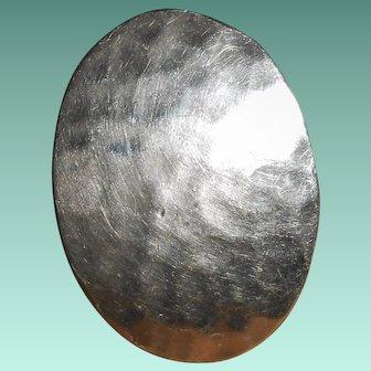 Hammered Silver Modernist Ring