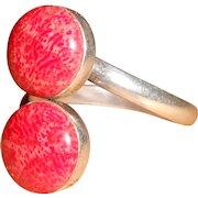 Red Snakeskin Jasper Sterling Silver Ring