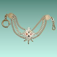 19th Century Card Player's Watch Chain