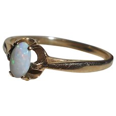 Natural Opal 9 Carat Gold Ring, London Hallmark