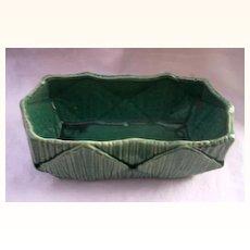 Vintage MC COY Planter Gorgeous Green Glaze and Design Mint Condition!