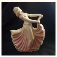 WONDERFUL Vintage Ceramic Planter Art Deco Styled Woman Marked 966 USA