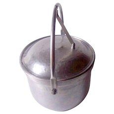 Vintage Hammered Aluminum Ice Bucket Unique!