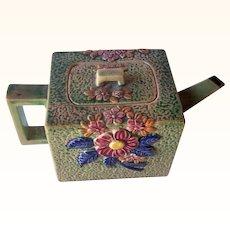 Vintage Ceramic Teapot Floral Motif Marked Hand Painted JAPAN
