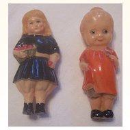 ADORABLE Vintage CELLULOID Dolls Pair Figurines Mint