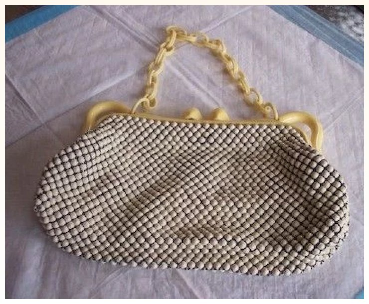 Vintage Whiting And Davis Purse Alumesh Handbag Mint