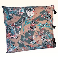Vintage Cotton Textile Fabric Pillow Cowboy Western Motif