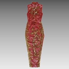 Sequin Dress Pink Cheongsam Asian Maxi Pageant Frock