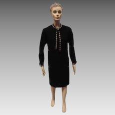 Chanel Boutique Dress Black Crepe Shift