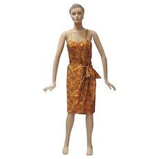 Hawaiian Sarong Dress Tiana Pittelle Wiggle Frock 1950s