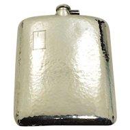 Antique Sterling Silver Hip Flask Clarence A Vanderbilt 7/8pt 294.2 grams