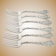 Gorham Versailles Sterling Silver Fork Set of 6 6 3/4""