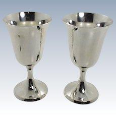 Stieff Sterling Silver Goblets Set of 2 - 0801-2