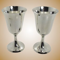 Stieff Sterling Silver Goblets Set of 2 - 0801-2