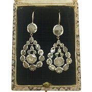 A Stunning Pair Of 4ct Georgian Rose Cut Diamond Earrings Circa 1790's