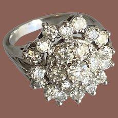 14K WG Diamond Cluster Stunner Ring