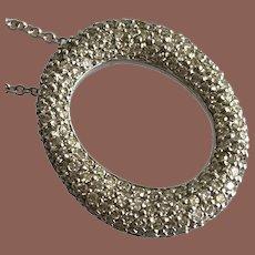 14K WG Pave Diamond Pendant