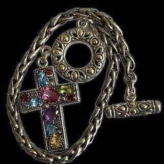Samuel Benham Sterling & Gemstone Bracelet