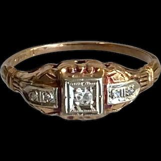 10K/14K Diamond Ring