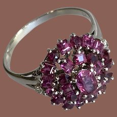Red Ruby & 14K WG Cocktail Ring
