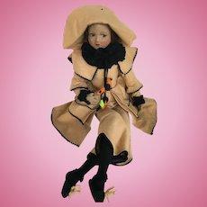 Early boudoir doll cloth