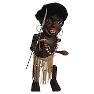 Black Americana wind up doll vintage