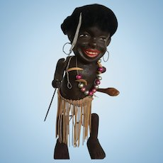 Black Americana wind up doll vintage