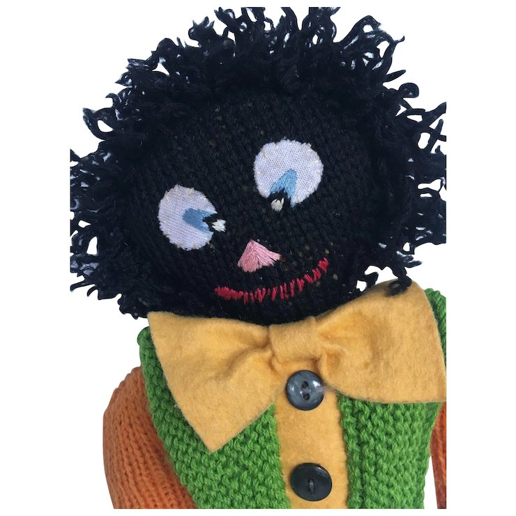Vintage Golliwog With Great Expression Childhood Companions Ruby