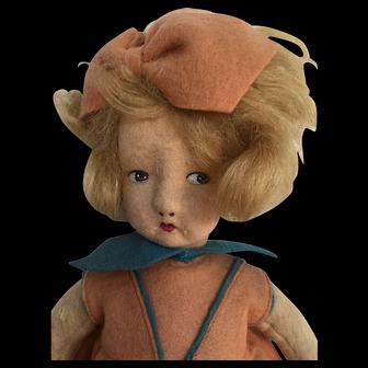 Vintage Felt Alma Doll 1920-30s