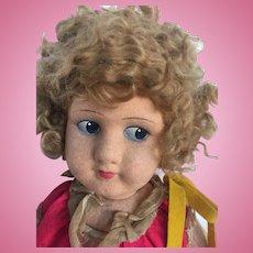 Vintage Felt Doll 1920-30s