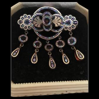 Antique Victorian Pique Brooch