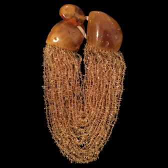 Exquisite and Unique Amber Torsade